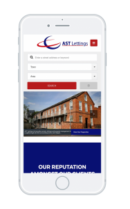 AST lettings on Iphone