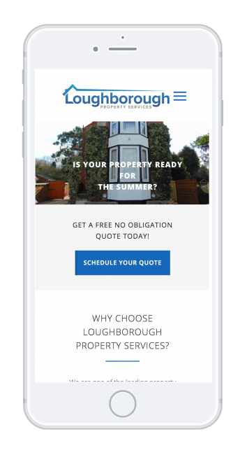 loughborough property services on Iphone