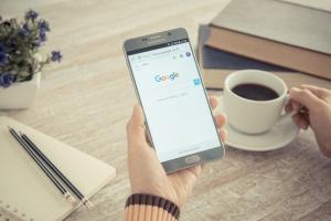 Google on a phone