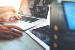 laptops geometric work statistics reports