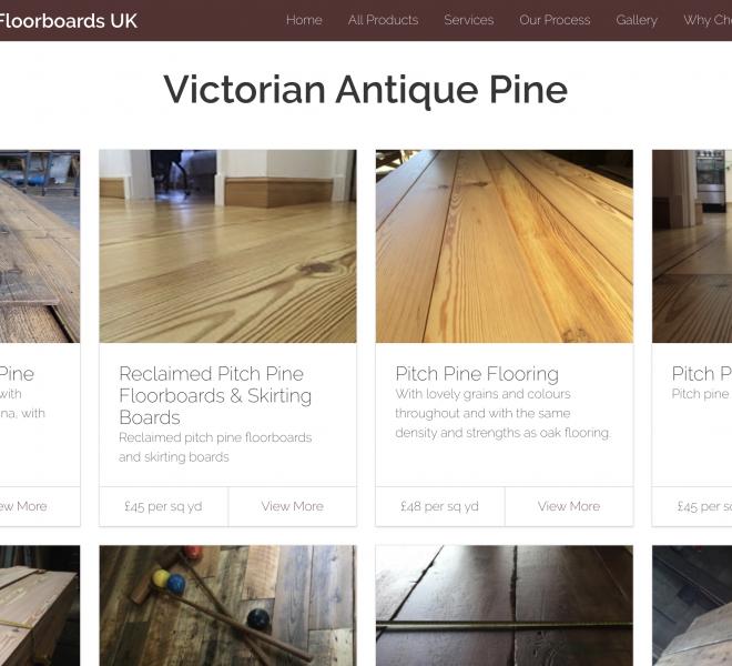 reclaimed floorboards website portfoliop