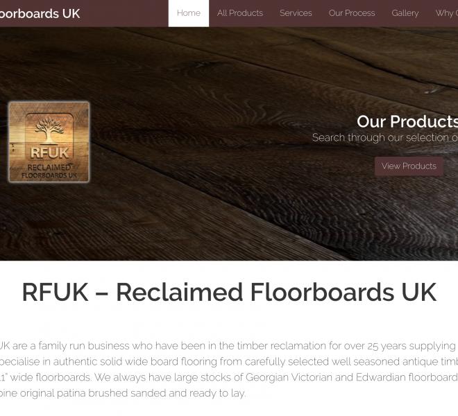 reclaimed floorboards website portfolio