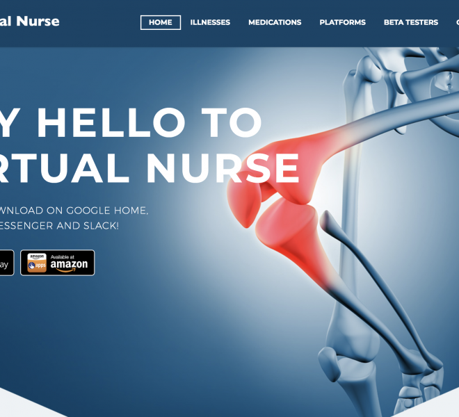 virtual nurse website design portfolio screenshot