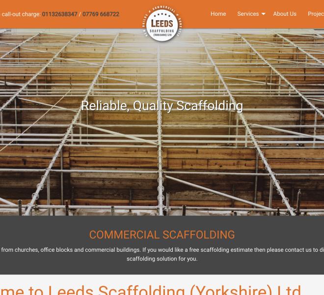 leeds scaffolding homepage portfolio item