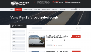 portfolio item prestige vans loughborough