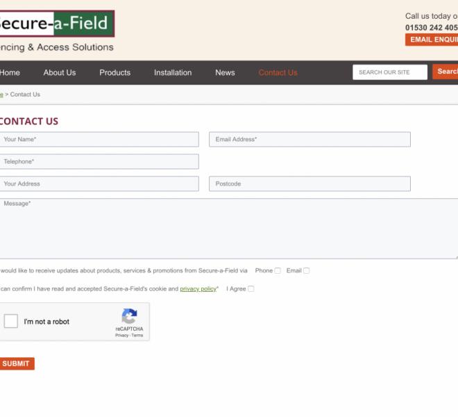 secure a field website development portfolio