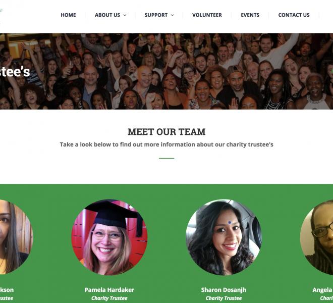 website design portfolio charity
