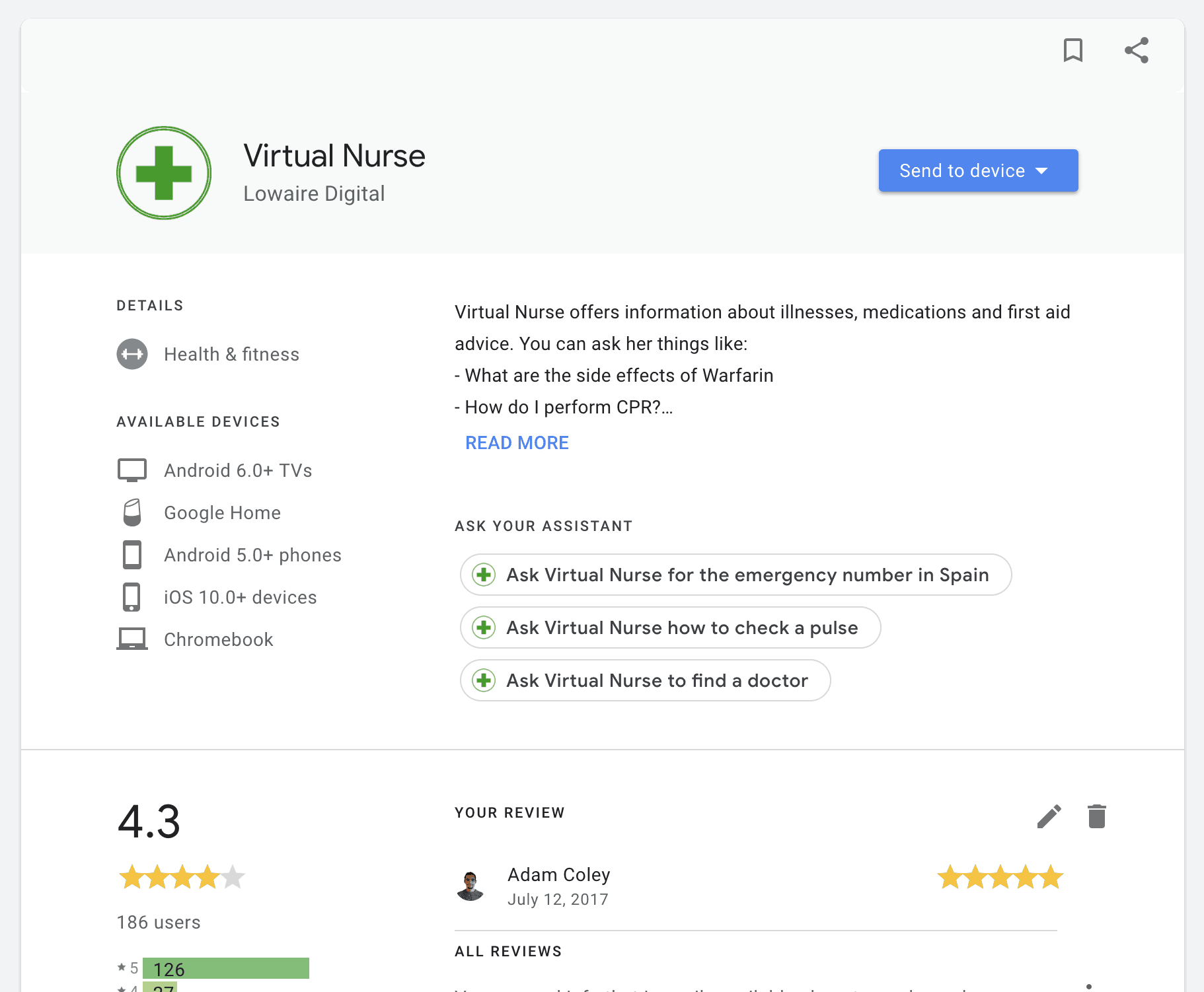 virtual nurse google ranking