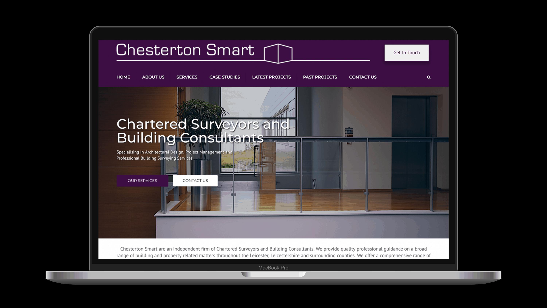chesterton smart web design on macbook