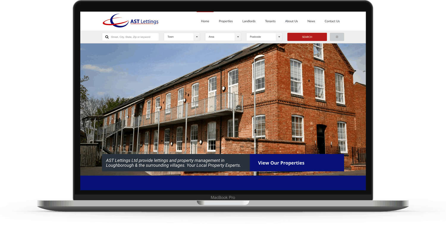 website portfolio item ast lettings