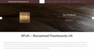 reclaimed floorboards uk website design