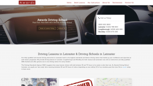 Awards driving school web design