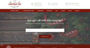 real christmas tree website portfolio