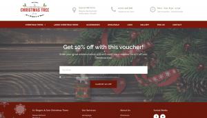 real christmas tree farm website design portdfolio