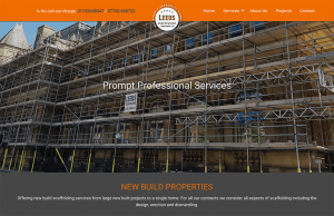 leeds scaffolding website design portfolio