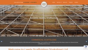 leeds scaffolding website portfolio item