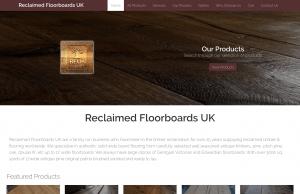 reclaimed floorboards website design portfolio