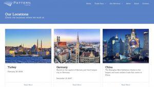 pattern website design portfolio