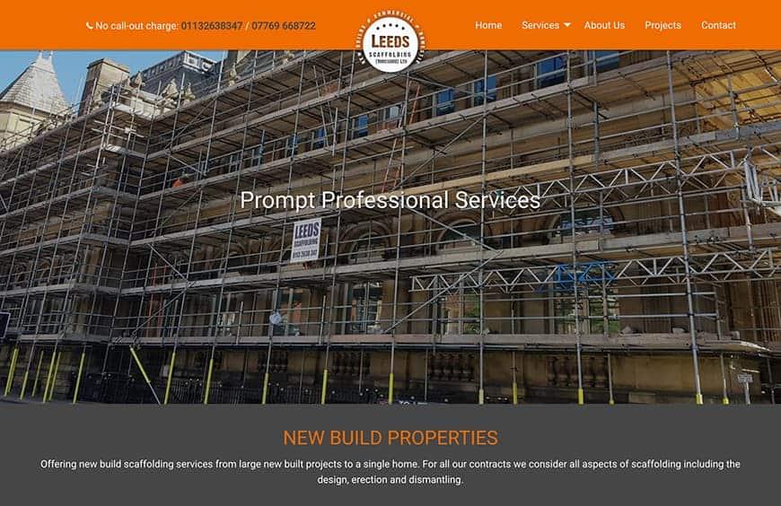 leeds scaffolding portfolio image